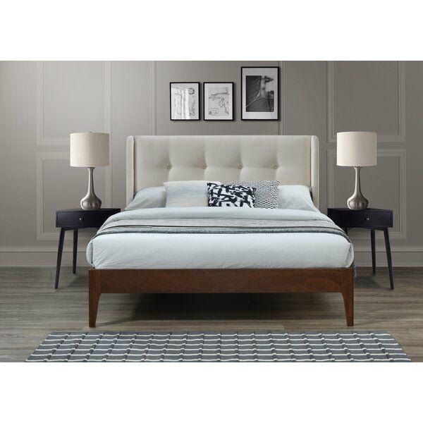 Meryl Queen Upholstered Platform Bed Modern Bedroom Furniture