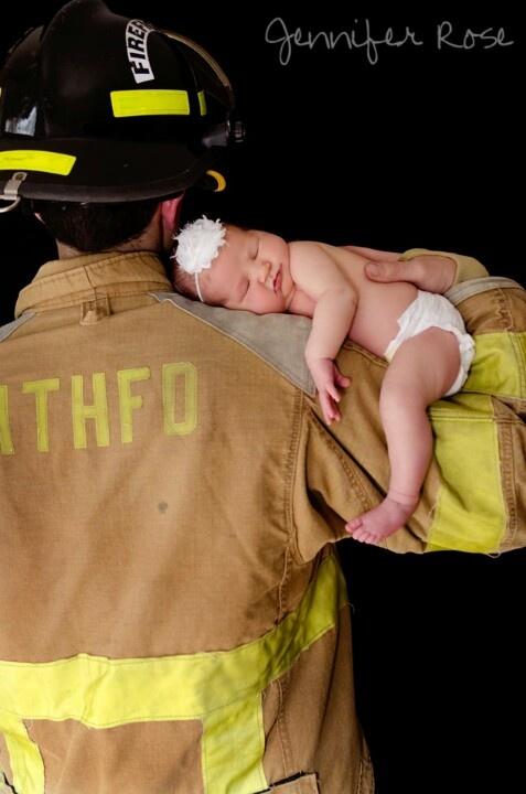 Firemen baby photo