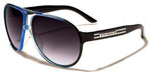 Biohazard Lunettes de Soleil Aviator – Ville – Mode – Plage – Fashion – Clubbing – Conduite – Moto / Mod. Hawai Noir Bleu: Les lunettes de…