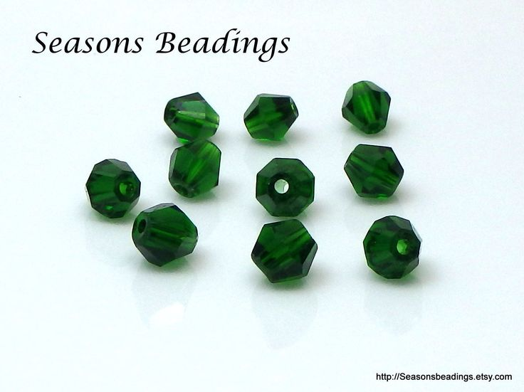 I am still working on adding the 6mm #bicones to my #etsy shop. The latest is these rich #darkgreen beads. http://etsy.me/2Ay4skS #supplies #bicone #jewelrymaking #crystal #bead #crystalbead #homebusiness #homebusinessowner