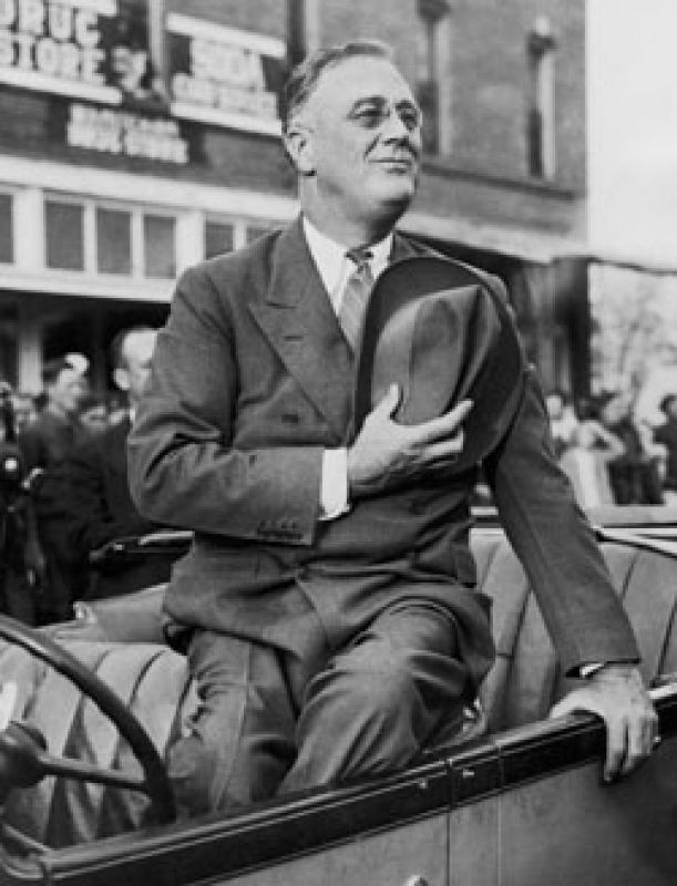 the response of franklin d roosevelt to the great depression The fireside chats elected in 1933, franklin d roosevelt was a reassuring presence for many americans through the trials of the great depression.