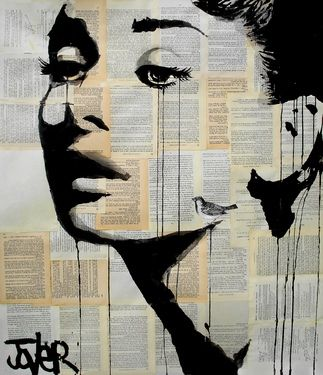 "Saatchi Art Artist Loui Jover; Drawing, ""and her bird can sing"" #art"