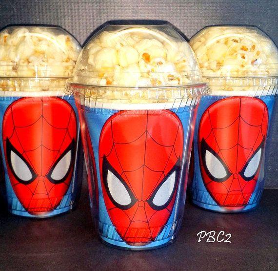 Palomitas de maíz Spider-man cumpleaños fiesta por JaymesPartyBox                                                                                                                                                                                 More