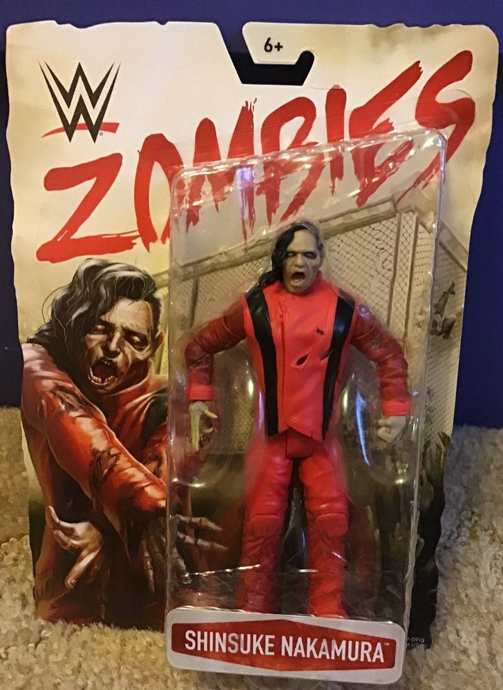 AJ Styles WWE Zombies Mattel Wrestling Action Figure MOC NEW