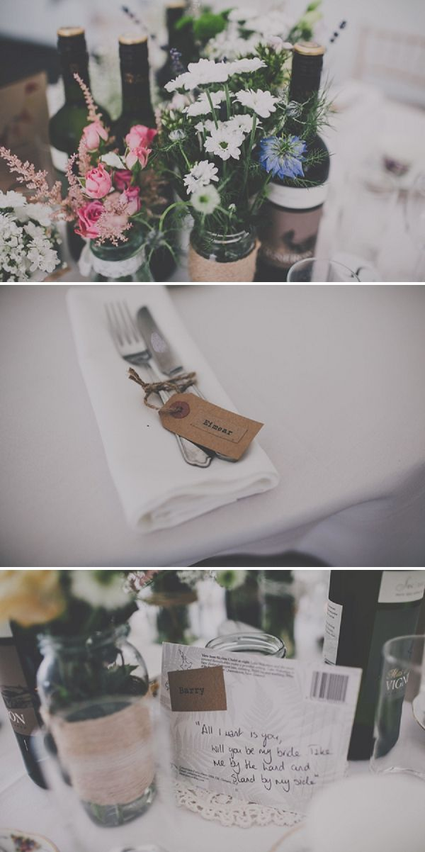 Not the wine bottles of course, but the jars are genius! And filled with all kinds of flowers???