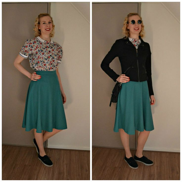 https://flic.kr/p/FZ5Q5Z | MMM_W1O3collage | Me made blouse and skirt. I need to run some errands, hence the sneakers.   These are one of my first vintage inspired garments I made. Blogged about here: anthea-retrovintage.blogspot.nl/2012/06/finished-40s-insp...  Have a nice weekend!