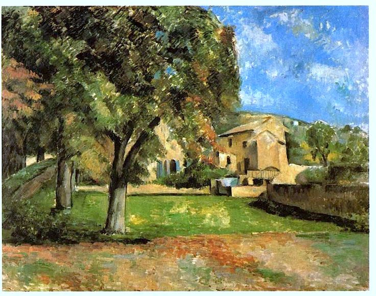 Horse Chestnut Trees in Jas de Bouffan - Paul Cezanne