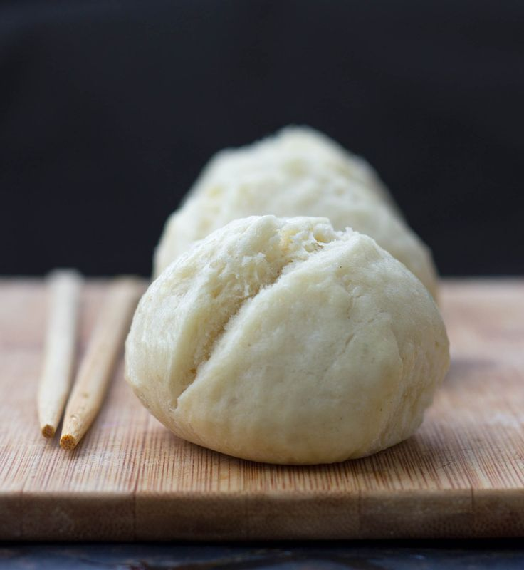 Steamed Coconut Buns - from Jamie Oliver15 minute meals. He made with hoisin chicken and crunchy cucumber pickles. Yum.