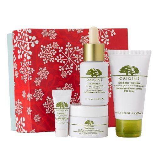 Origins Firm Believers Holidays Skin Care Gift Set by Origins. $87.50. Youthtopia Firming Eye Cream - 0.17 oz. Youthtopia Skin Firming Cream - 1 oz. Modern Friction Nature's Gentle Dermabrasion - 1.7 oz. Youthtopia Age-correcting Serum - 1 oz. The Firm Believers gift set rocks! It's the perfect Holiday gift for any skin care princess. Origins Firm Believers Gifts for the Holidays and a Great Green Gift