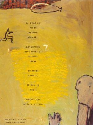 Aan de muur - Poëzieposters - poëzieposter met gedicht Je bent zo van Hans Andreus