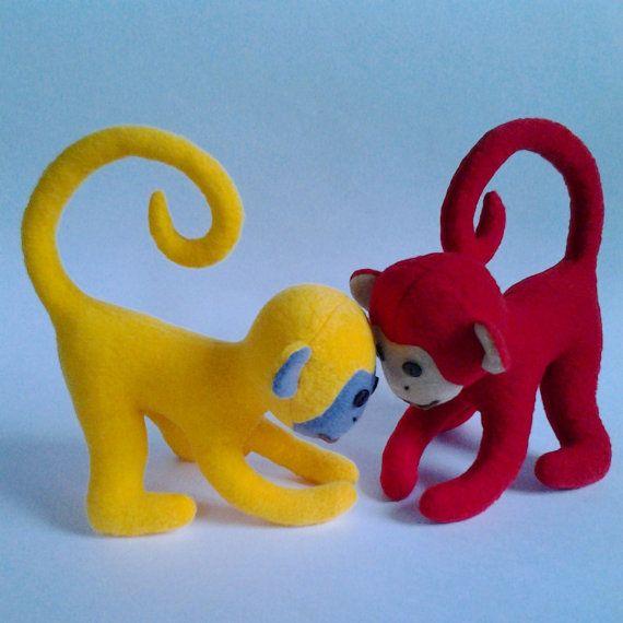 Detská Monkey vzor, plyšová hračka vzor a výukový program, plyšová Pattern, Šitie vzor, Monkey Šitie vzor, Plyšová hračka Pattern