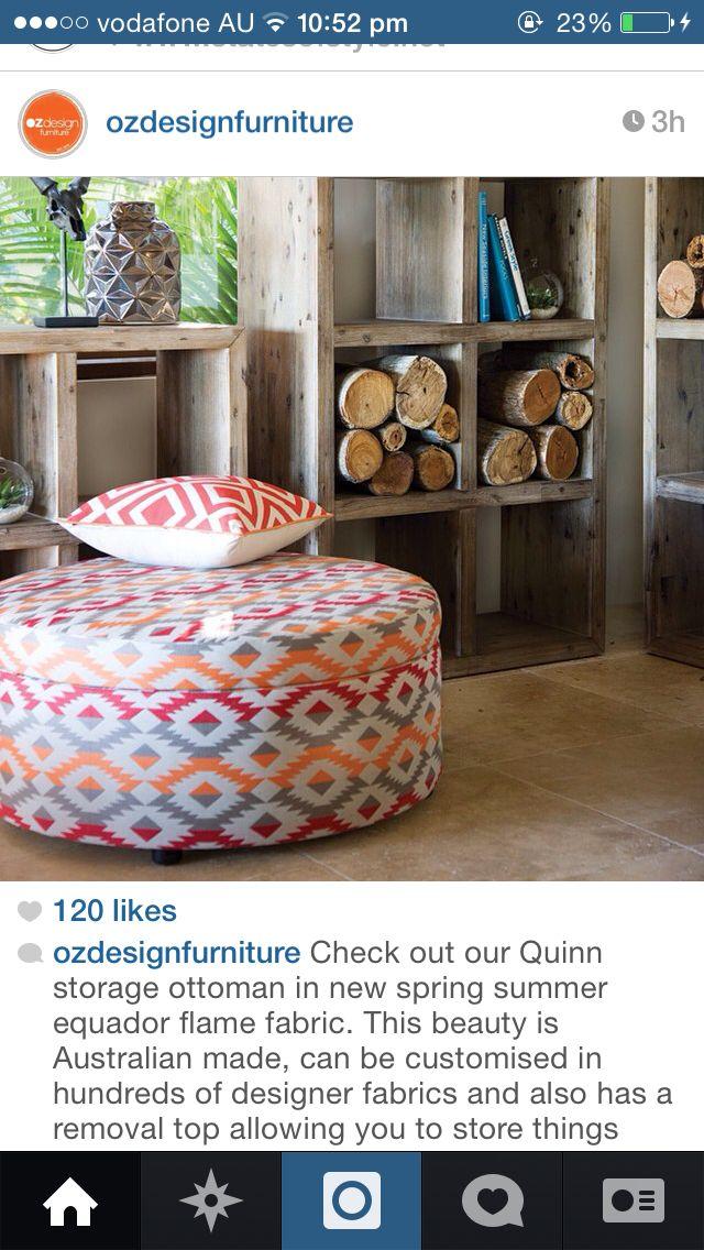 Storage Ottoman in gorgeous colourful fabrics