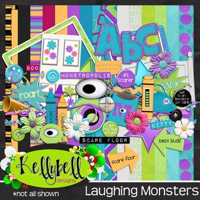 Laughing Monsters by Kellybell Designs