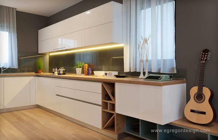 mobilare apartament familial mobila bucatarie sticla vopsita
