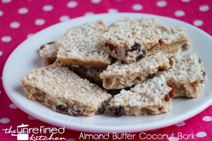Almond Butter Coconut Bark & Coconut Almond Bark | The Unrefined Kitchen | Paleo & Primal Recipes (no sweetener added!!)