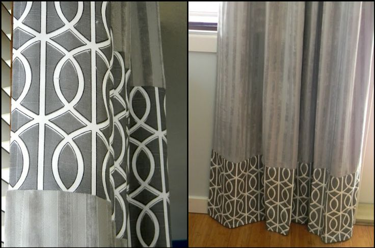 Adding fabric to store bought curtains for a custom look for Do shower curtains come in different lengths