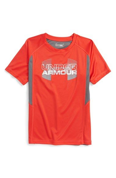 Under Armour 'Matrix Logo' Graphic HeatGear® T-Shirt (Toddler Boys & Little Boys)