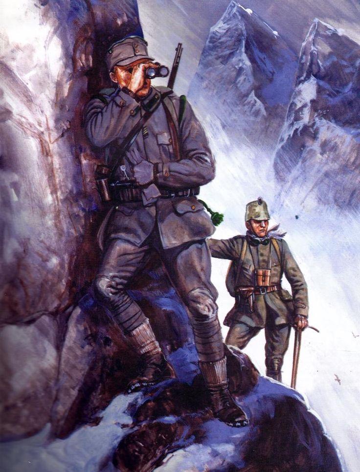 German Mountain troops Caporetto 1917