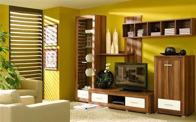 Scarica sfondi mobili imbottiti, tv, armadio
