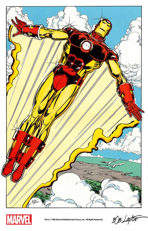 Iron Man by Bob Layton from Marvel Fanfare #39 (1988) remastered by The Marvel Project.
