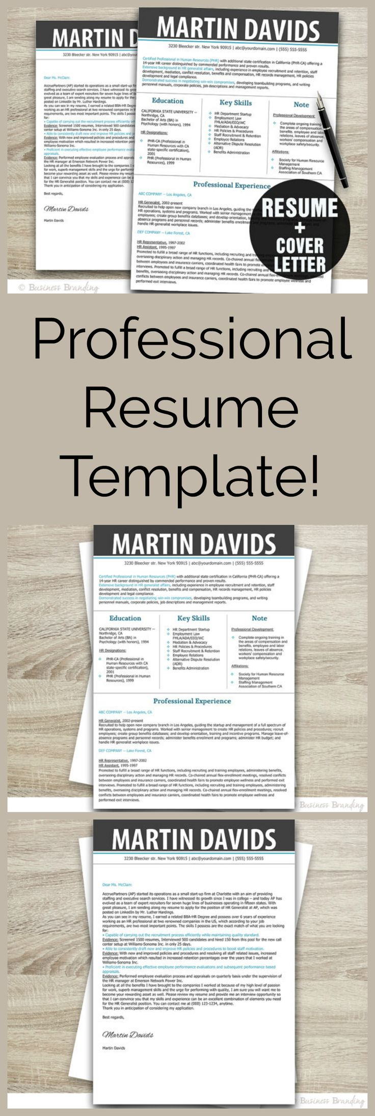download job resume format%0A Fabulous resume template to move your career forward  Instant Download  Resume Template  Modern Resume