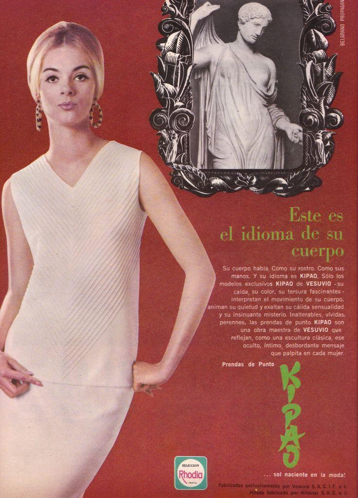 Prendas de punto KIPAO, 1966. Ella es Maria Marta Lagarrigue.