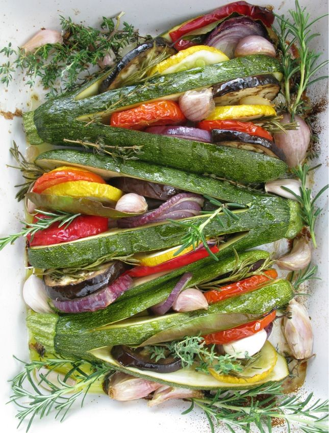 Roast vegetables with herbs - beautiful!