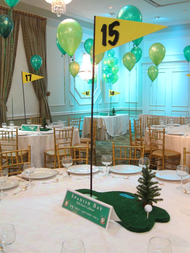 Golf Themed Centerpiece
