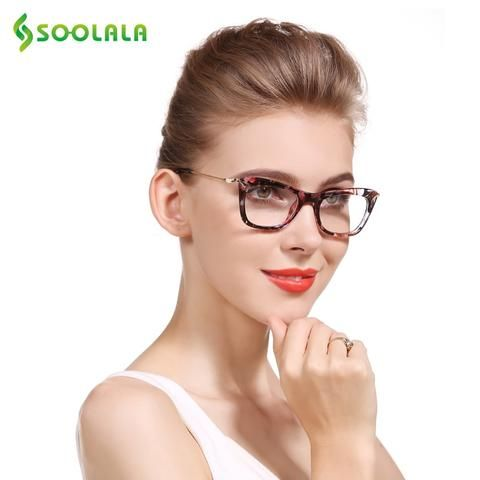 c1734bde9a SOOLALA Cat Eye Reading Glasses Women Men Eyeglasses Frames with Metal Arms Reading  Glasses +0 0.5 1.25 1.5 2.25 3.25 3.75 4.0