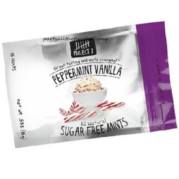 3 Packs Project 7 PEPPERMINT VANILLA Gourmet Gum CLASSIC FLAVOR Free Shipping #Project7