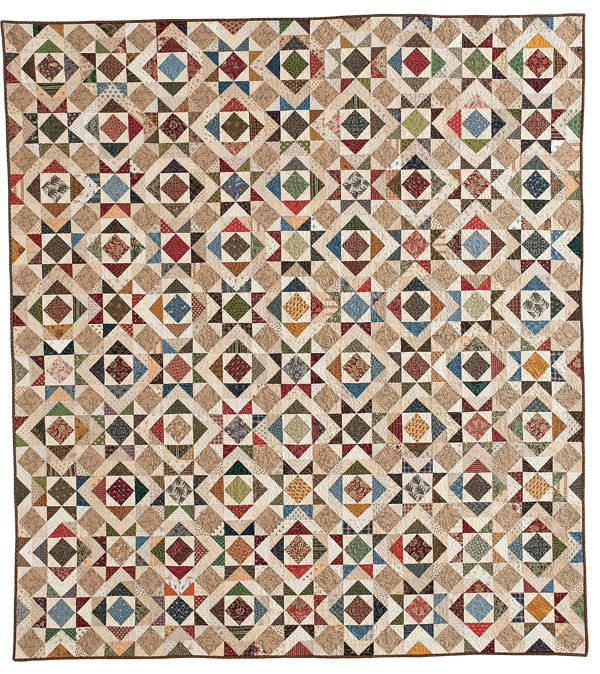 Splendor in the Scraps, a free quilt pattern from McCall's Quilting.