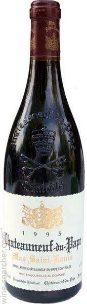 Wine information for Louis Geniest Chateauneuf-du-Pape Mas Saint Louis, Rhone, France.