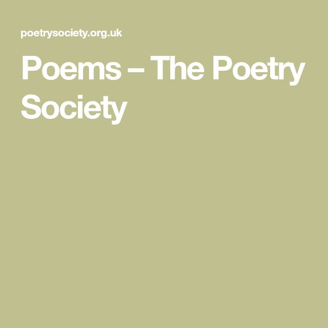 Poems – The Poetry Society