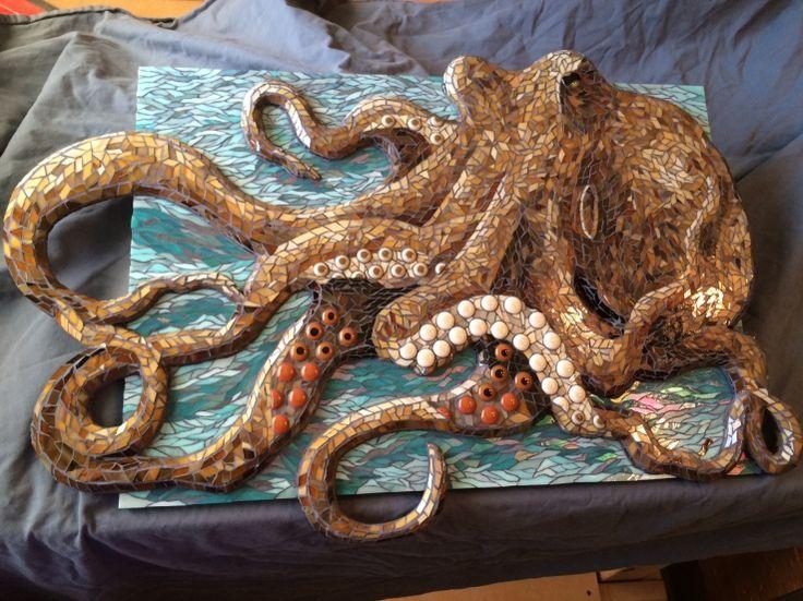 Kraken By Jeannette Purks Mosaic Tile Art Mosaic Art Mosaic Animals