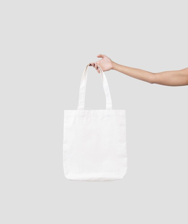 Download Hand Holding Bag Canvas Fabric For Mockup Blank Template Isolated On Gray Background Design Mockup Free Bag Mockup Stationery Mockup Free