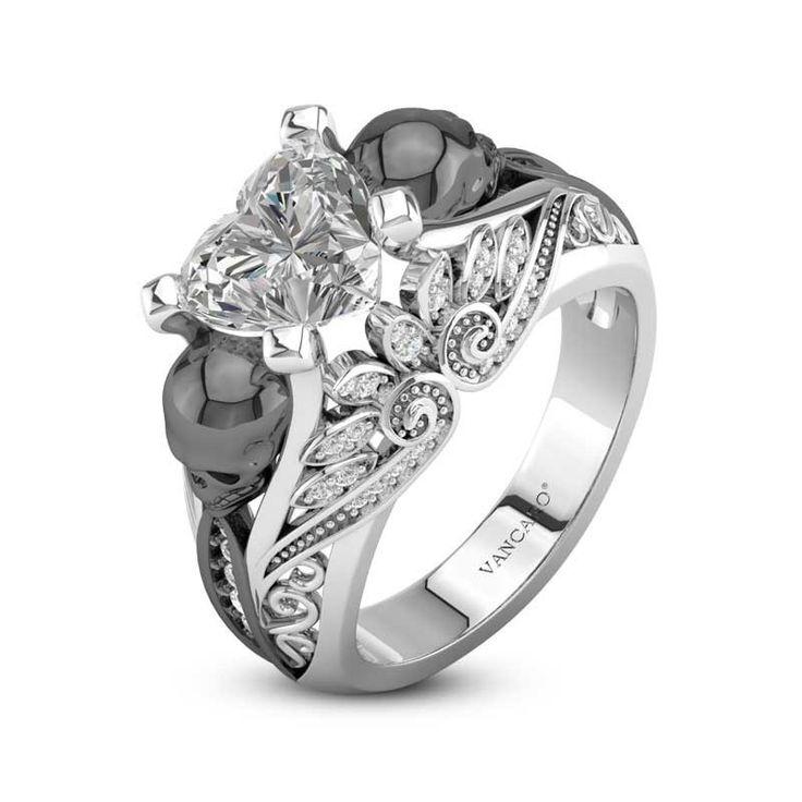 12+ Skull wedding rings for him ideas