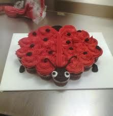 Lady bug cupcake! Heather Hatch makes this, so adorable for a kids party or summer fun deal