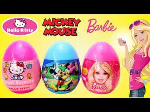 3 ADET OYUNCAK SÜPRİZ YUMURTA (Hello Kitty Barbie ve Mickey Mouse) VİDEOSU