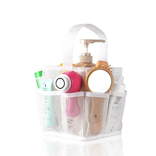 Bathroom Organization: Jovilife 8 Pocket Shower Caddy Tote (White) -- See this great product.