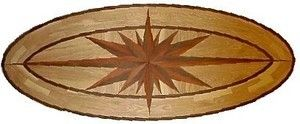 Hardwood Floor Medallion Sunlight Oval 36""