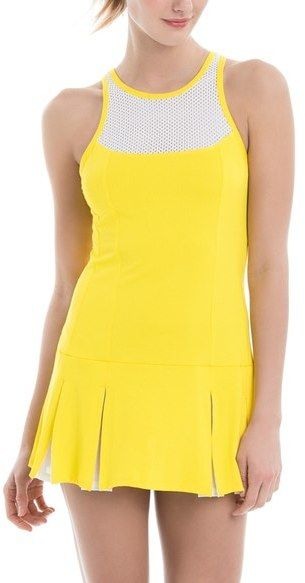 Lole 'Mae' Tennis Dress, yellow, white, gelb, weiss, Tennis Fashion Women #tennis #fashion #sport #women #court #tennismode #mode #frauen #tennisoutfit #outfit #trendy #nike #reebok #nikecourt #adidas #newbalance - trendy Tennis Outfits for her - Tennis Outfits für Sie. Tennismode, sportliche Mode fürs Tennisspielen.