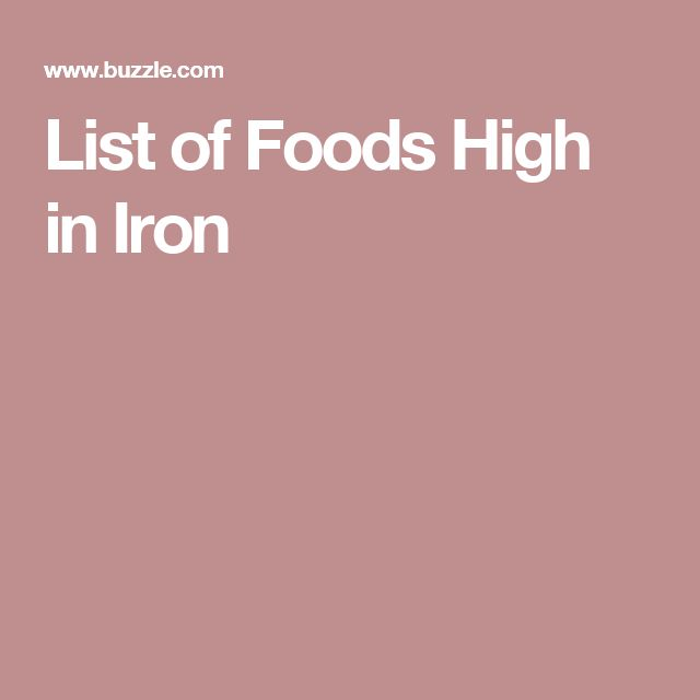 List of Foods High in Iron