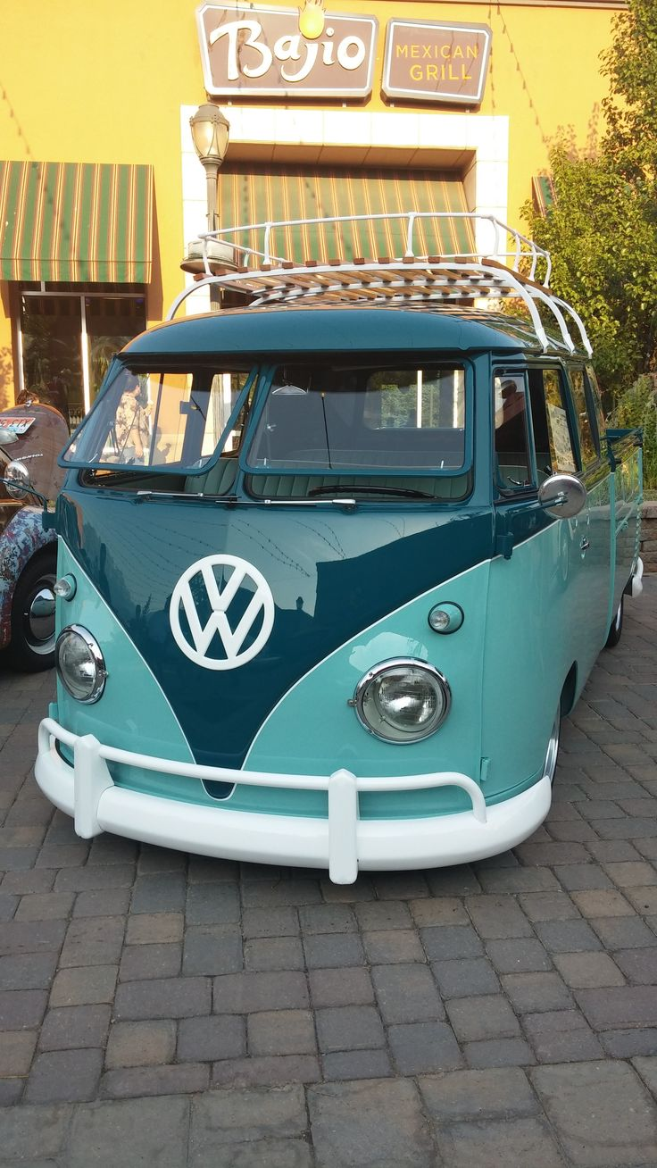 Double Cab VW Bus @ Wasatch Classic VW show in Provo at the Riverwoods in July 2014 photo by @vwsouthtowne