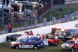 nascar crash july 6 2014