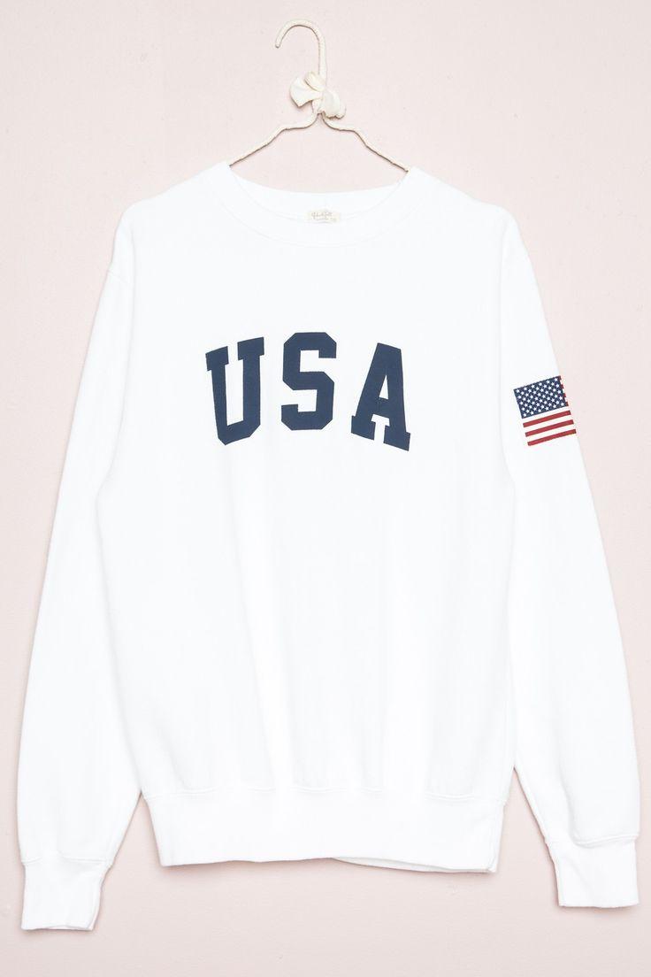 Brandy ♥ Melville |  Erica USA Sweatshirt - Graphics
