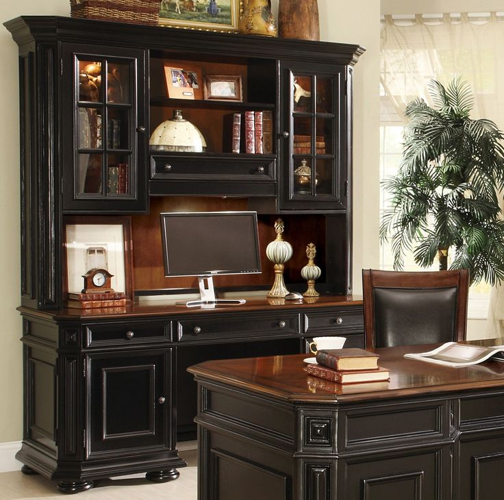 The New Allegro Office Collection Is Designed For The Traditional Home With  The Deep Warm Cherry And Rubbed Black Finish. These Pieces Have A Refinu2026
