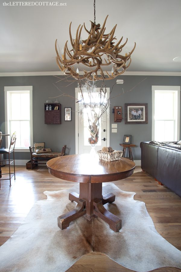 Phoenix Fossil Paint Antler Chandelier The Lettered Cottage