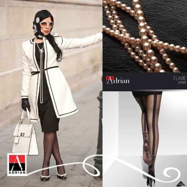 Co powiecie na elegancję z lat 50? Chusta wiązana pod brodą oraz duże, przeciwsłoneczne okulary pozwolą wyróżnić się z tłumu oraz podkreślą kobiecy szyk! #fifty #fashion #style #glamour #elegant #adrian #adrianinspiruje #rajstopy #moda