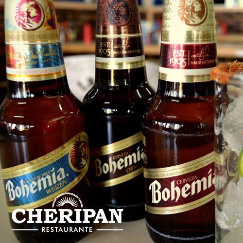 Cerveza Bohemia. Tómala en sus 3 presentaciones.