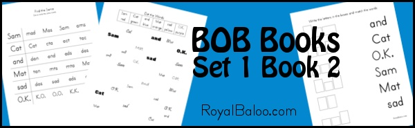 Free printable activities to go along with BOB books - set 1 book 1.
